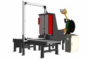 Side strapping machine, pallet stretch packing